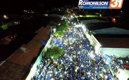 Romonilson realiza seu ultimo comício no Carmo e reúne multidão