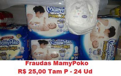 Maniçobal: Fraudas MamyPoko – Tam P – 24 Ud – R$ 25,00