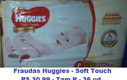 Maniçobal: Fraudas Huggies Soft Touch – Tam P – 36 Ud – R$ 30,99