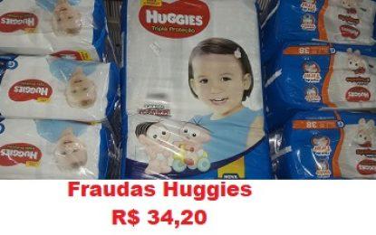 Maniçobal: Fraudas Huggies – Tam G – 38 Ud – R$ 34,20