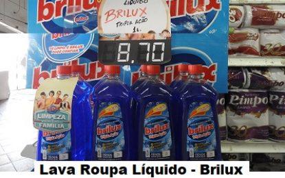Maniçobal: Lava-roupa Líquido Brilux 01 litro – R$ R$ 8,70