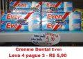 Maniçobal: Creme Dental Even – Leve 4 pague 3 R$ 5,90