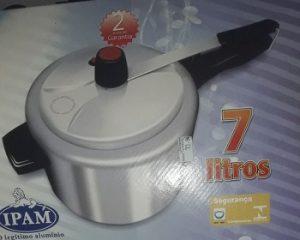 Maniçobal: Panela de Pressão Ipam 7 Lt – R$ 73,00