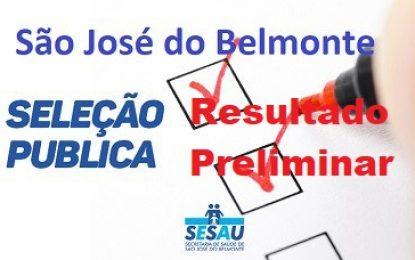 Belmonte: Prefeitura divulga resultado preliminar de processo seletivo