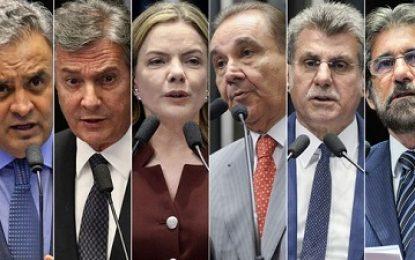 Seis senadores réus por corrupção, obstrução e lavagem